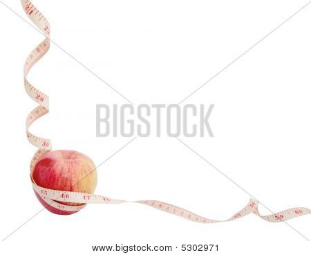 Apple Diet Frame With Copyspace