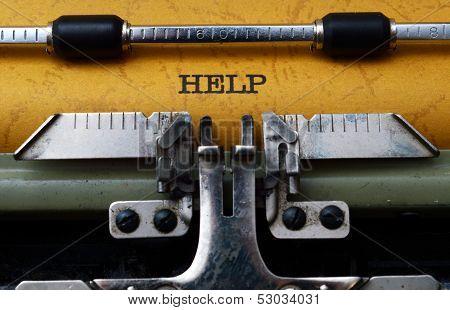 Help Text On Typewriter