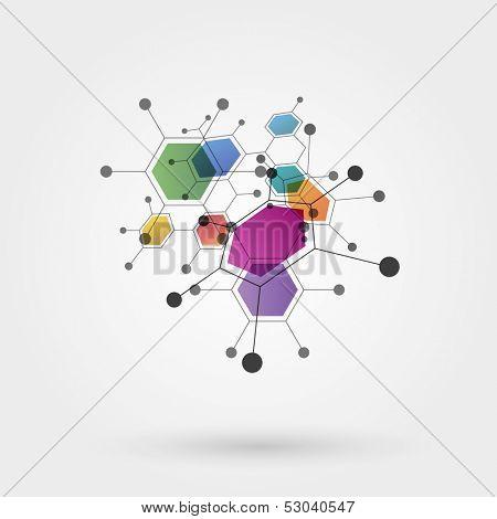 Molecules, eps10 vector