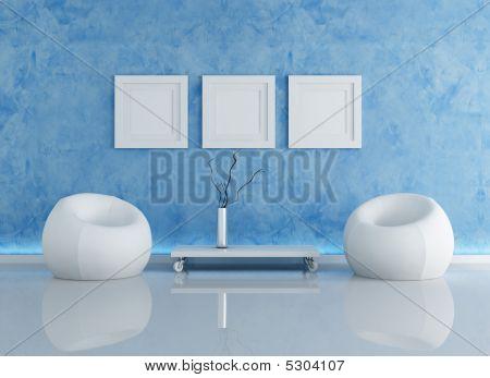 Blue Contemporary Interior