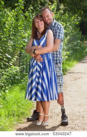 Joyful Romantic Young Couple