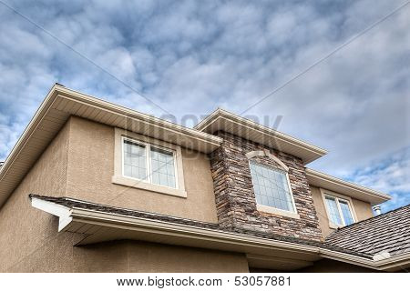 Roofline of 2-storey house