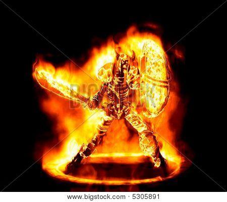 Fiery Sketon Warrior