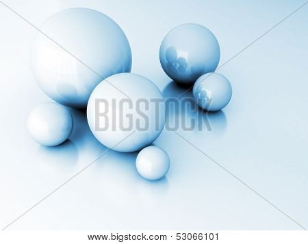light metallic balls as technological and abstract background
