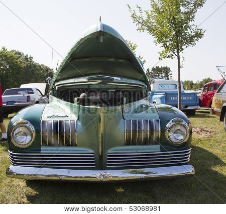 1941 Nash Ambassador Aqua Blue Car Front View