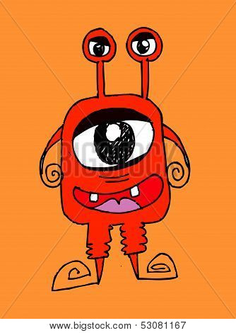 an images of Cartoon cute monsters in Jaidee Family Style