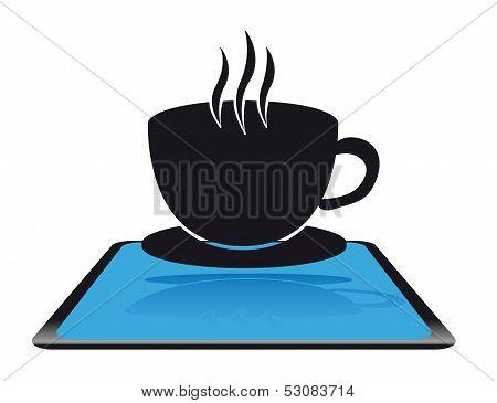Modern coffee icon