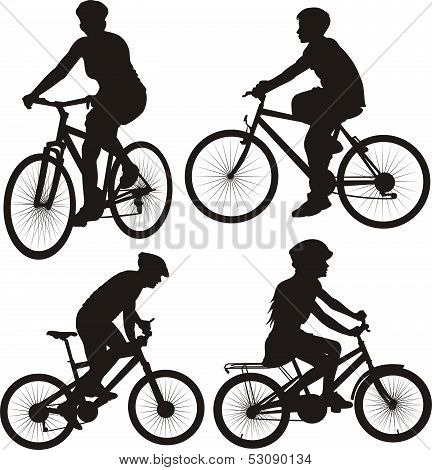 bicycle, cyclist - icon