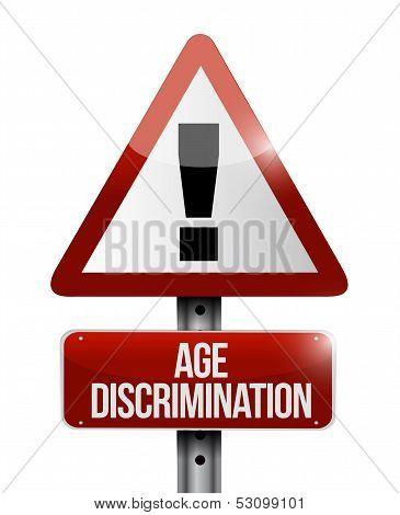 Age Discrimination Road Sign Illustration