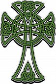 The Celtic cross from the intertwined lines poster
