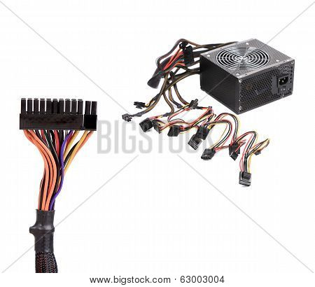 Computer Power Supply Unit and connection plug