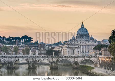 Saint Peter's Basilica In Vatican City, Italy
