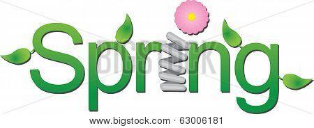 Vector Spring Text