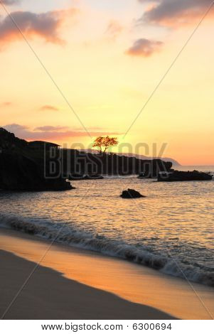 Waimea Bay Pastel Sunset