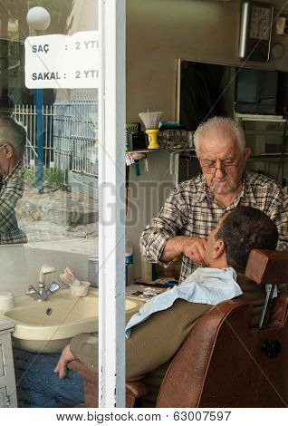 Barbershop In Izmir, Turkey