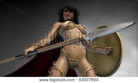 sparta warrior girl