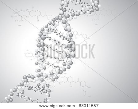 DNA spiral - molecules background