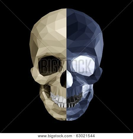 Crystal skull in two colors