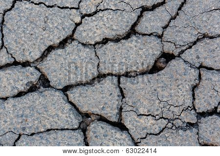 Cracked Tarmac Surface