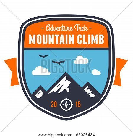 Mountain Adventure Badge Emblem
