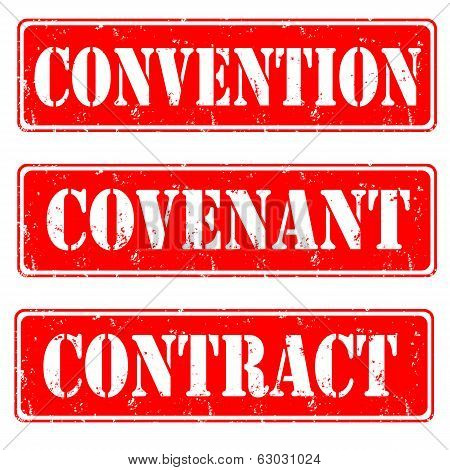 Convention,convenant,contract