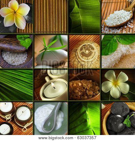 spa theme collage