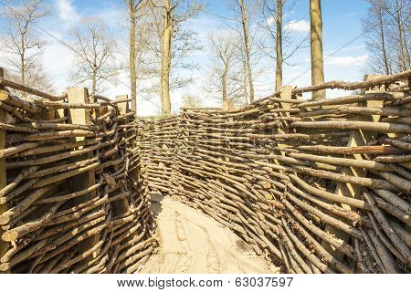 Ww1 Trench In Bayernwald World War One Belgium