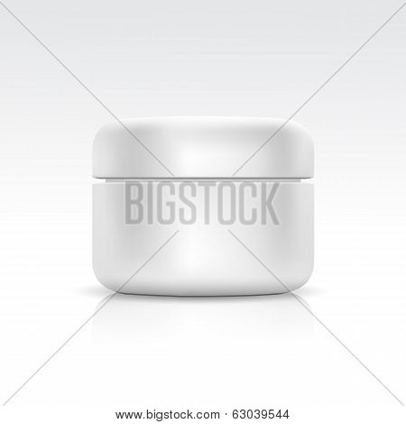 Vector Blank Cosmetic ?ontainer for ?ream, Powder or Gel poster