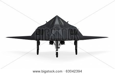 Stealth Fighter Aircraft isolated on white background. 3D render poster