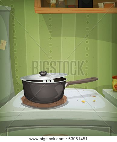 Kitchen Scene, Mouse Inside Stove