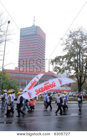 Workers strike in Poland