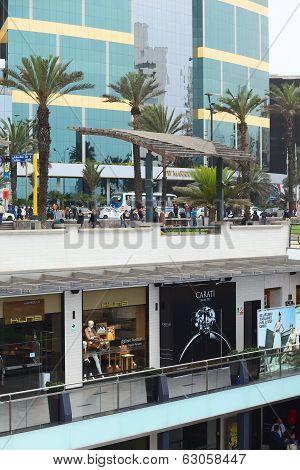 Larcomar Mall and Marriott Hotel in Miraflores, Lima, Peru
