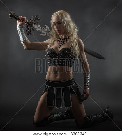 Woman And Sword