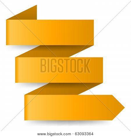 Yellow paper arrow