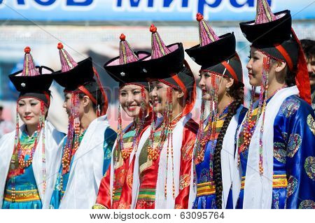 Young Women At World Mongolians Convention