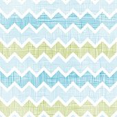Vector fabric textured chevron stripes seamless pattern background with hand drawn elements poster