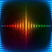 Abstract neon rainbow colors shining vector background poster