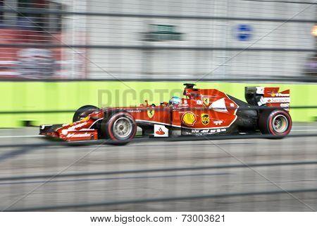 SINGAPORE - SEPTEMBER 20.  Fernando Alonso (ESP) Ferrari F14 T. Formula One World Championship, Rd14, Singapore Grand Prix, Marina Bay Street Circuit, Singapore, 20 September 2014