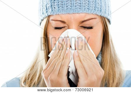 Blowing nose