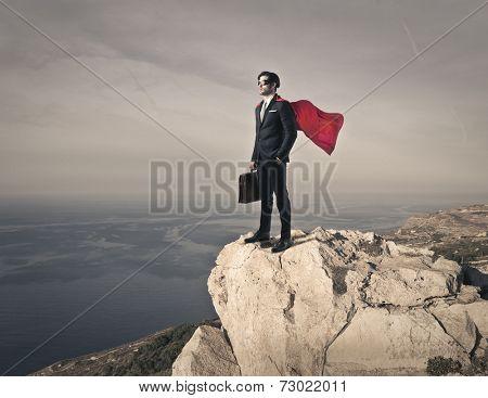 Superhero on the top