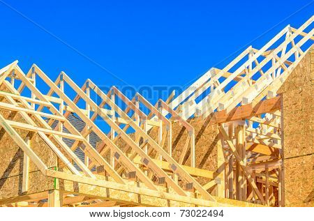 Your dream home. New residential construction house framing