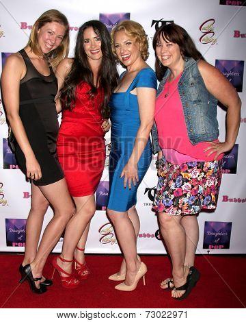 LOS ANGELES - SEP 18:  Anne Woods, Anna Borchert, Heather Lee Moss, Leah Cevoli at the