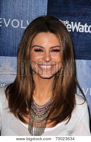 LOS ANGELES - SEP 18:  Maria Menounos at the People Stylewatch Hosts Hollywood Denim Party at The Line on September 18, 2014 in Los Angeles, CA