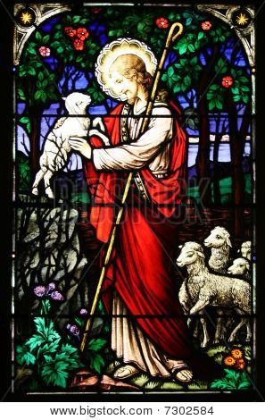 Good Shepherd Stained Glass Window