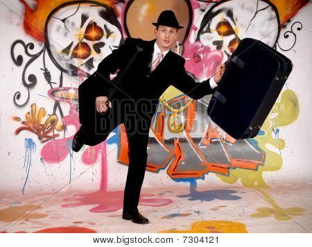 Businessman, Urban Graffiti