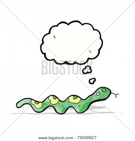 cartoon slithering snake