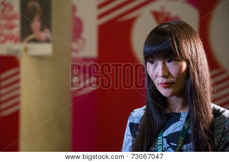 MOSCOW - JUNE, 25: Actress G.Tihonova. Press-conference White Yagel Movie at 36st MIFF, Actor Theatre. June 25, 2014 in Moscow, Russia