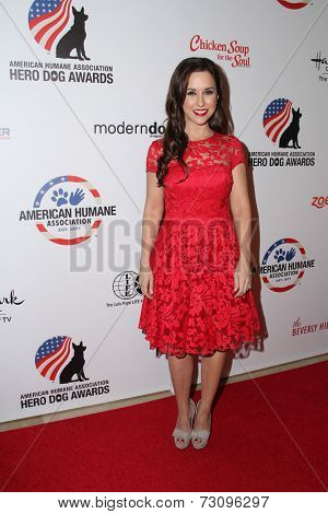 LOS ANGELES - SEP 27:  Lacey Chabert at the Hero Dog Awards at Beverly Hilton Hotel on September 27, 2014 in Beverly Hills, CA