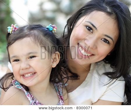 Pretty Mother and Daughter
