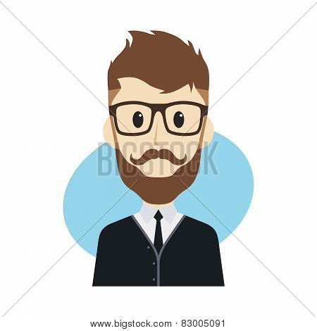 hipster guy cartoon